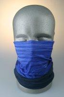 Multifunktionstuch mit Thermofleece, Streifen blau