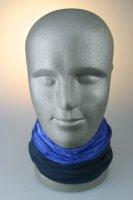 Multifunktionstuch mit Thermofleece, Streifen hellblau
