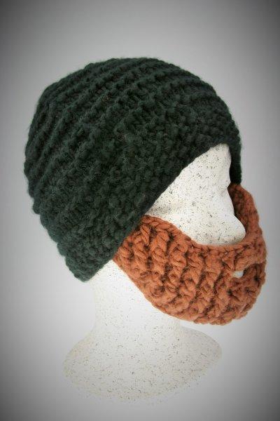 schwarze Mütze-brauner Bart