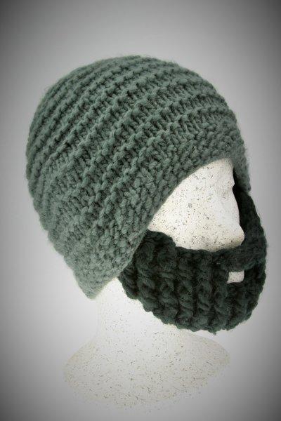 graue Mütze-schwarzer Bart