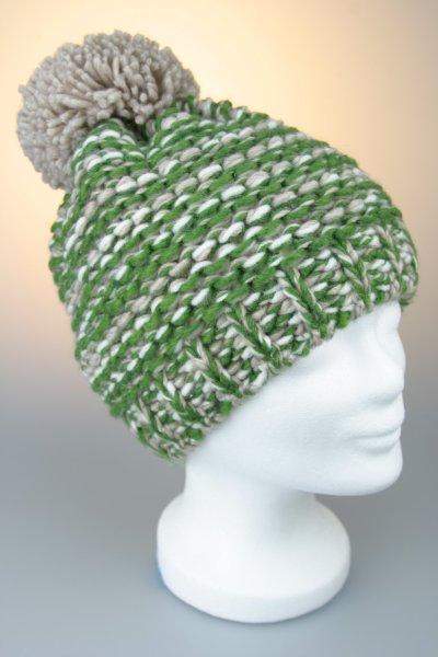 Beige-Weiß-Grün